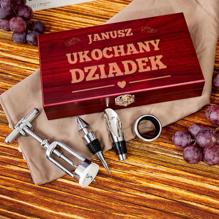 Ukochany dziadek - zestaw do wina