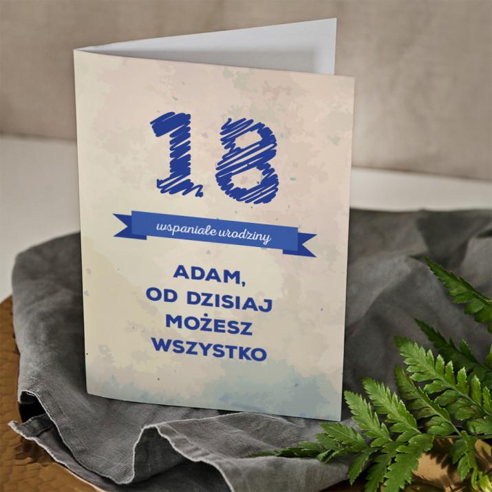 18 wspaniałe urodziny - kartka z życzeniami
