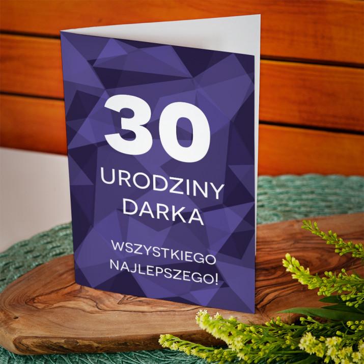 30 urodziny geometryczna - kartka z życzeniami