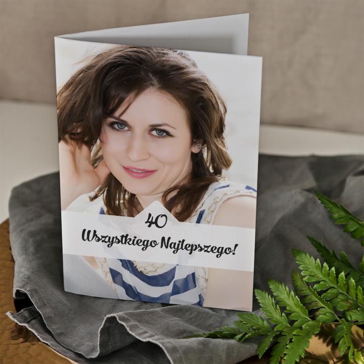 40 urodziny zdjęcie - kartka z życzeniami