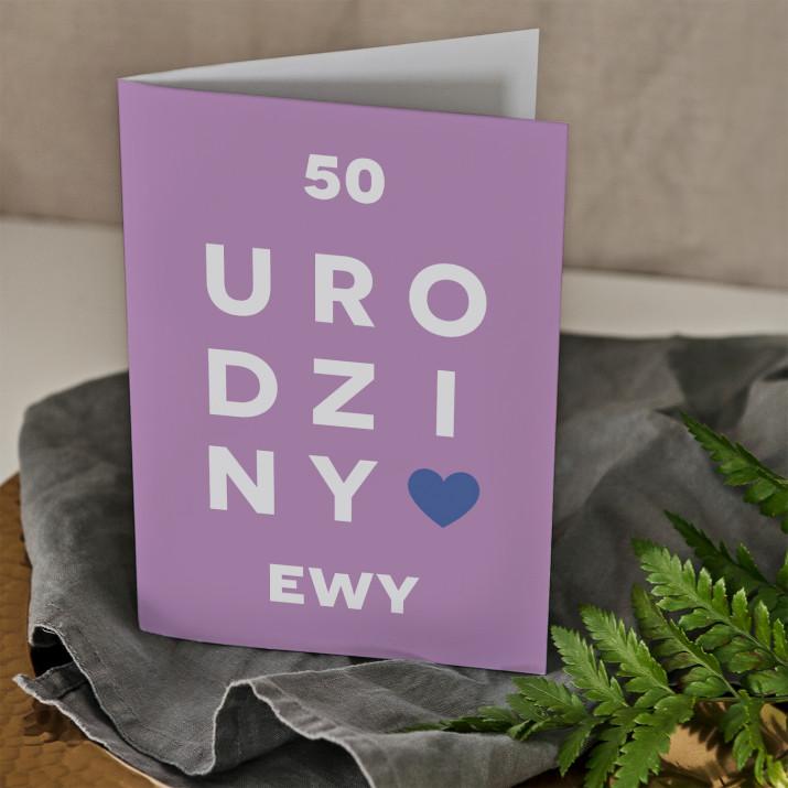 50 urodziny - kartka z życzeniami