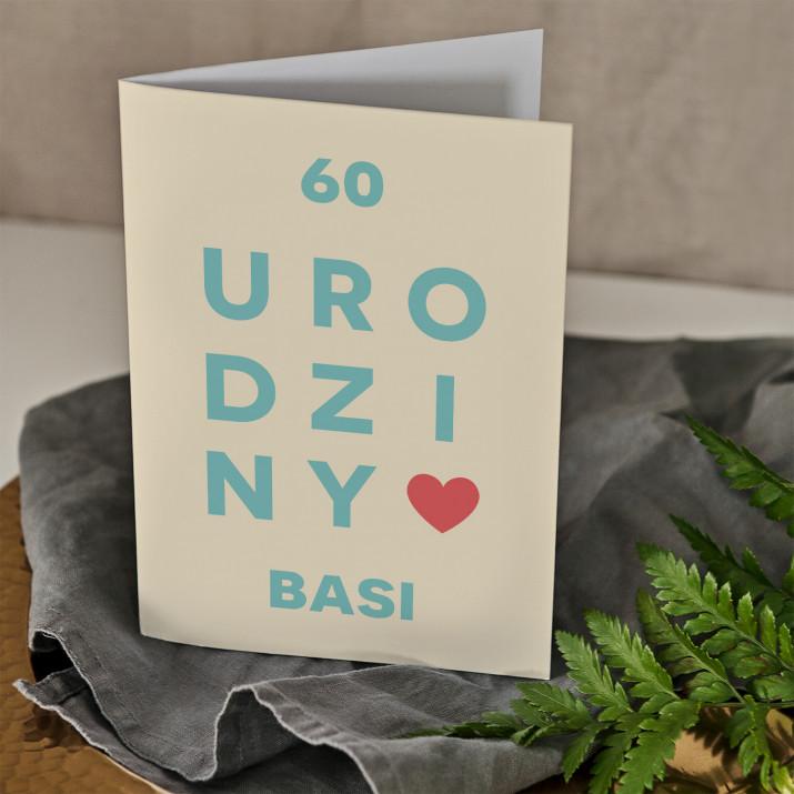 60 urodziny - kartka z życzeniami
