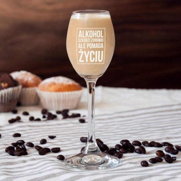 Alkohol - kieliszki do nalewek lub likieru