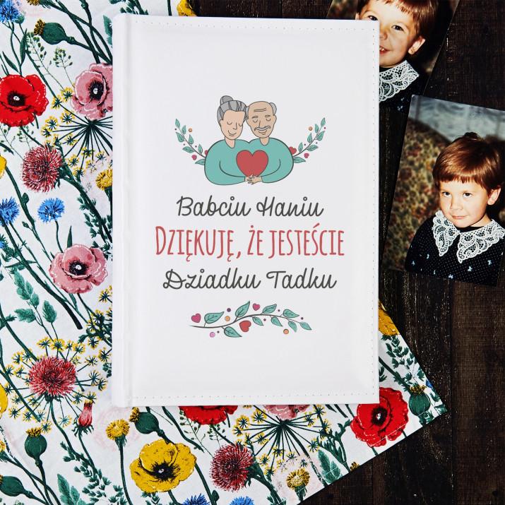 Babciu dziadku dziękuję - Personalizowany Album na zdjęcia