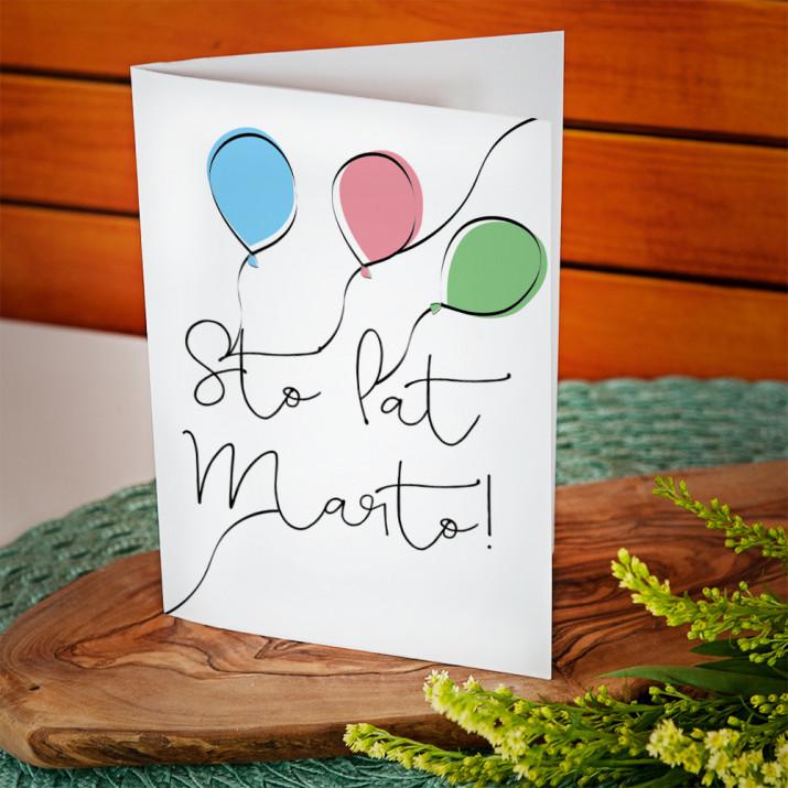Balony - kartka z życzeniami