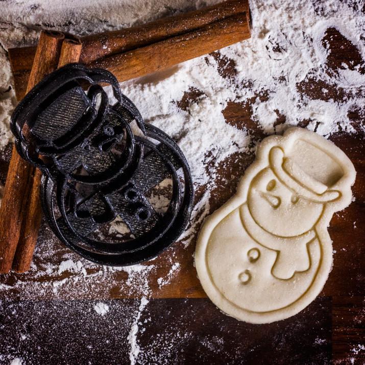 Bałwan - foremka 3D do ciastek