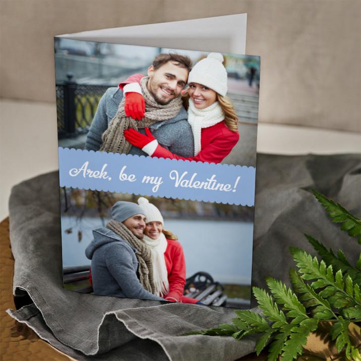 Be my Valentine - kartka z życzeniami