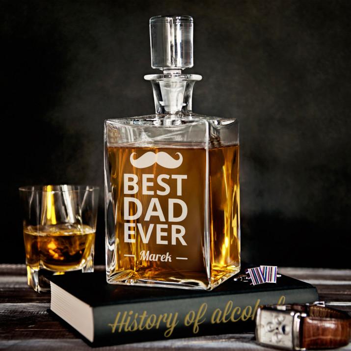 Best Dad - grawerowana karafka do whisky