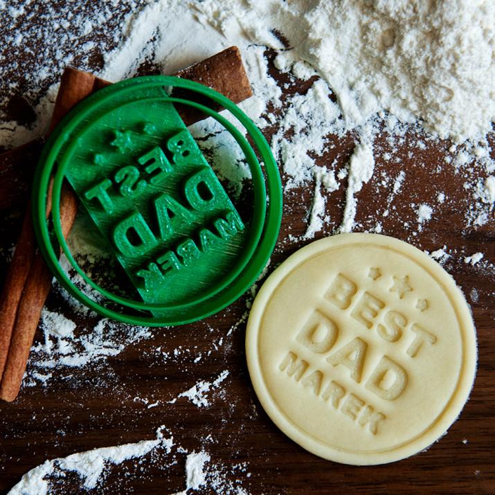 Best Dad - personalizowana foremka 3D do ciastek