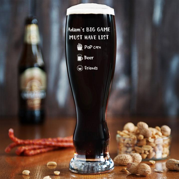 Big Game - Grawerowana Szklanka do piwa