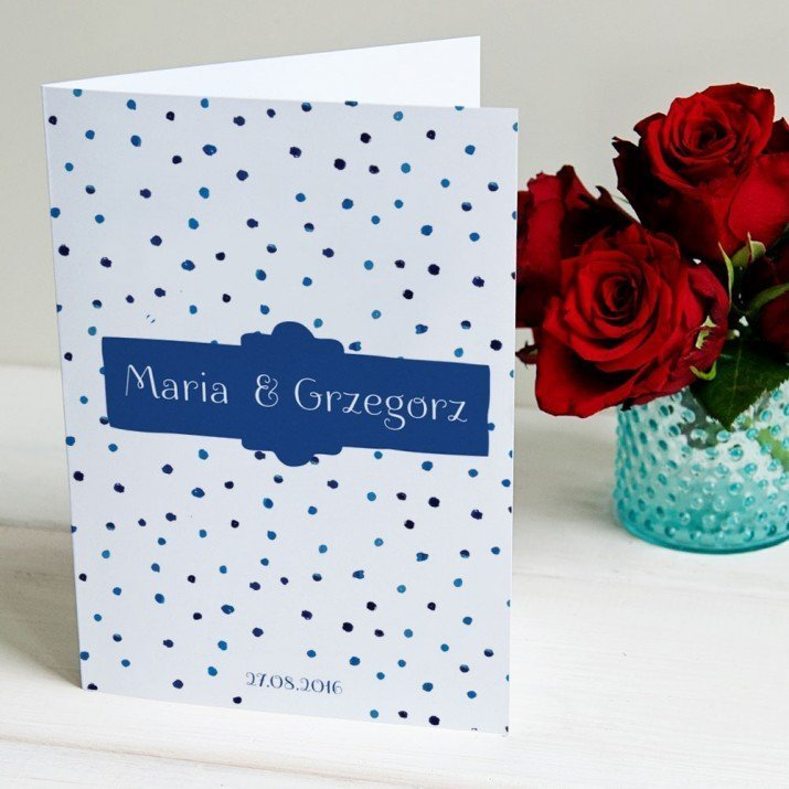 Blue dots - kartka z życzeniami