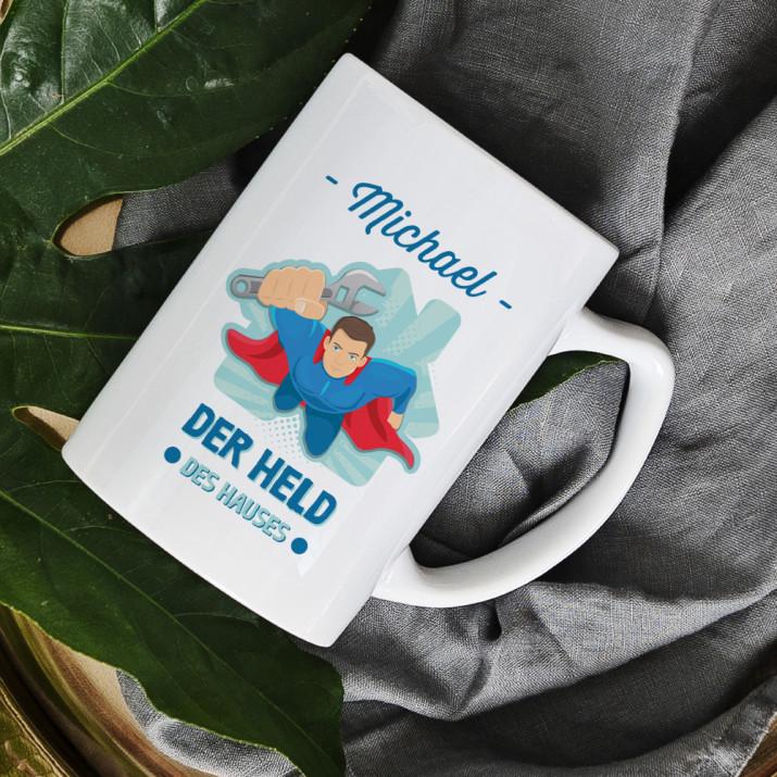 Held des Hauses - personalisierte Tasse