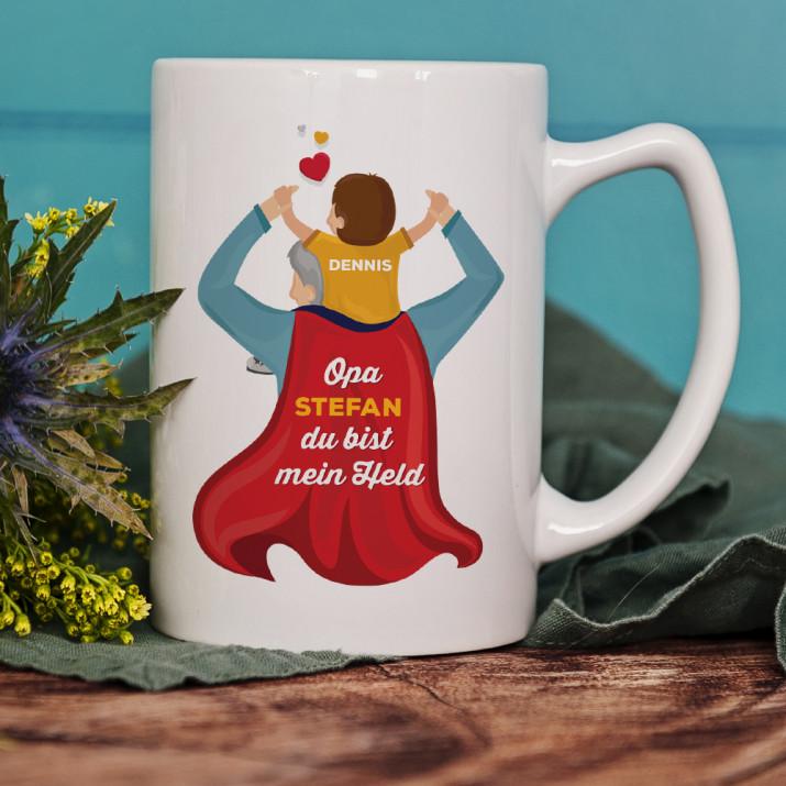 Opa Held - personalisierte Tasse