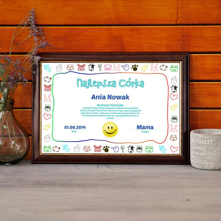 Certyfikat - Najlepsza Córka