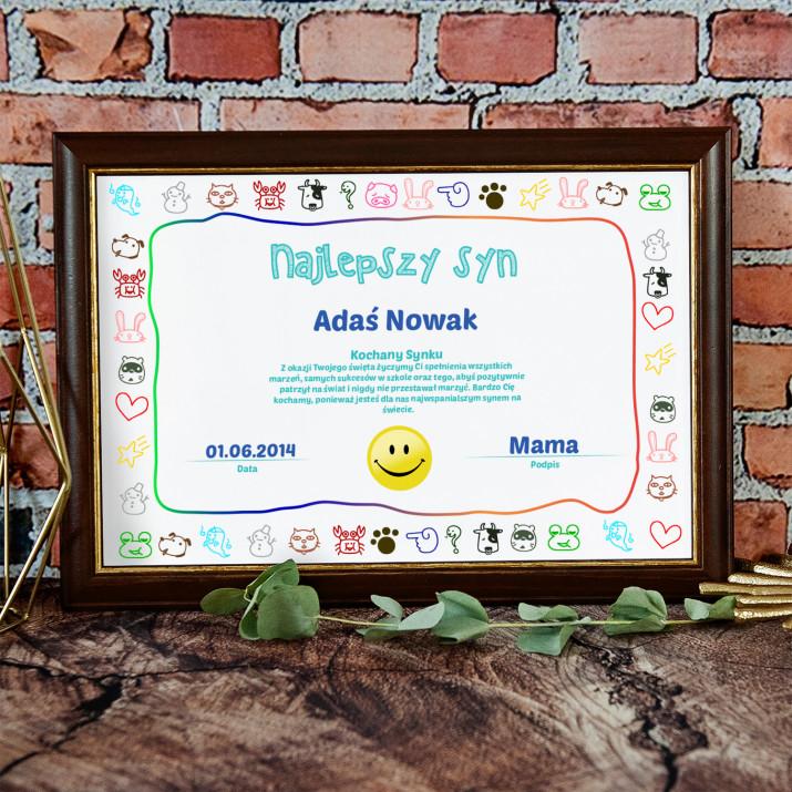 Certyfikat - Najlepszy Syn