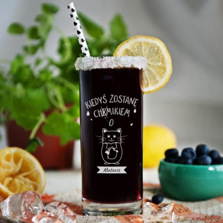 Chemik - Grawerowana Szklanka do drinków
