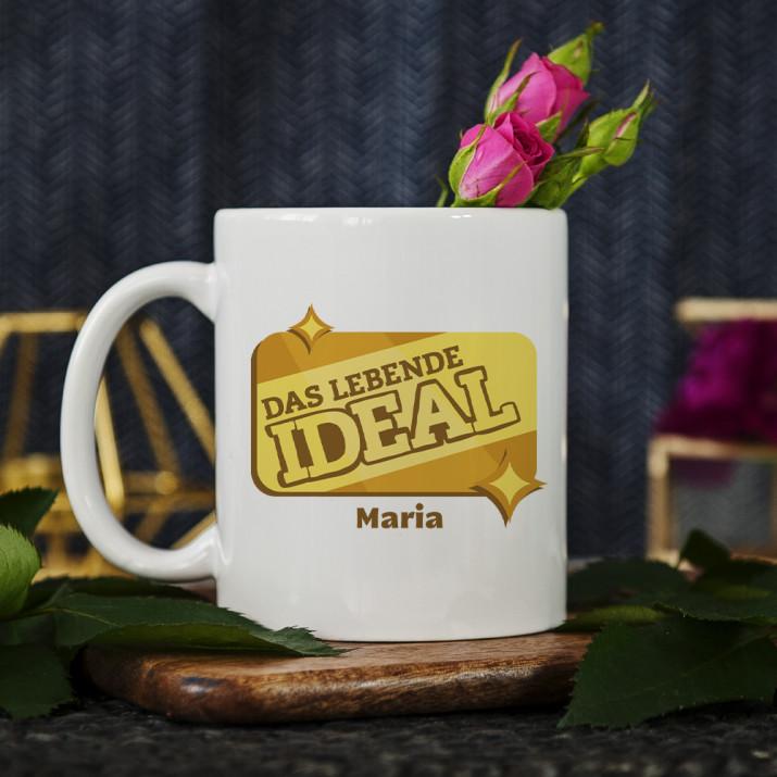 Das lebende Ideal - personalisierte Tasse