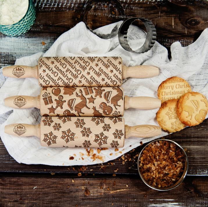 Christmas - Zestaw 3 MINI Wałki do ciasta