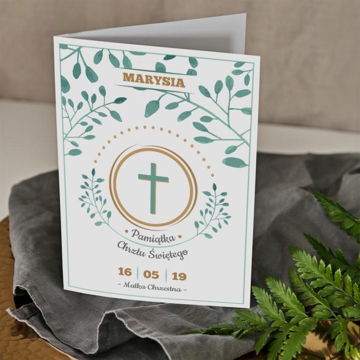 Chrzest gałązki - kartka z życzeniami