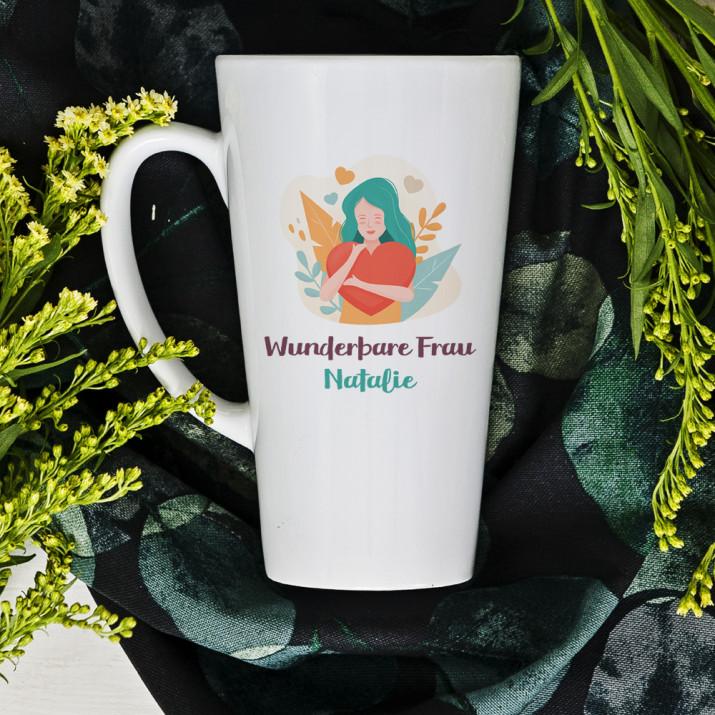Wunderbare Frau - Personalisierte Tasse