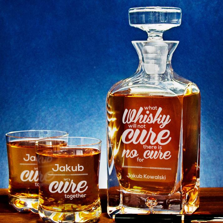 Cure - Zestaw Grawerowana Karafka I Szklanki Do Whisky