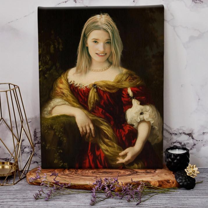 Dama w ogrodzie - Królewski portret
