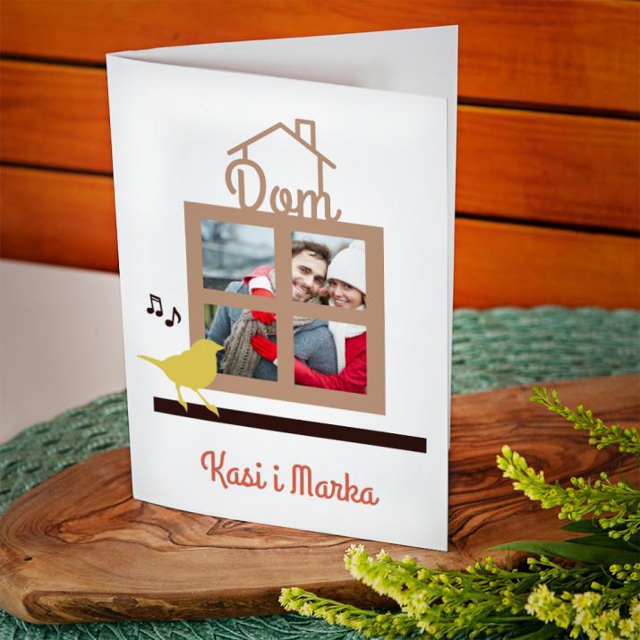 Dom - kartka  z życzeniami