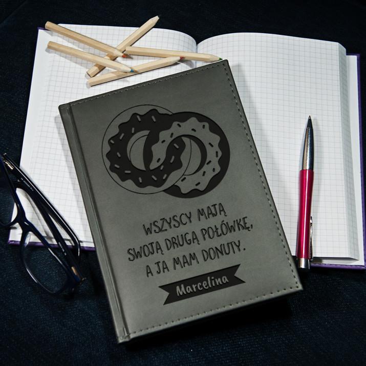 Donuty - notatnik grawerowany A5