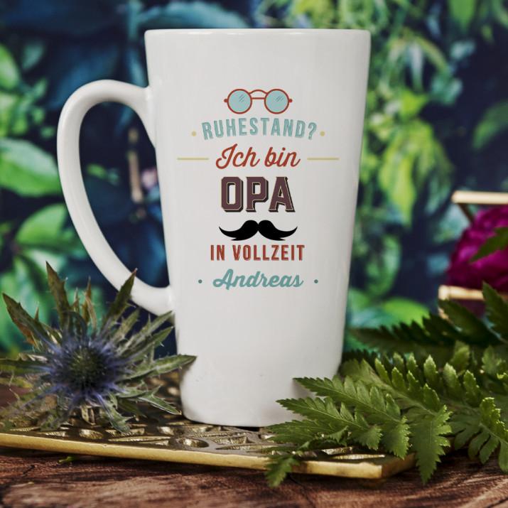 Opa in Vollzeit - personalisierte Tasse