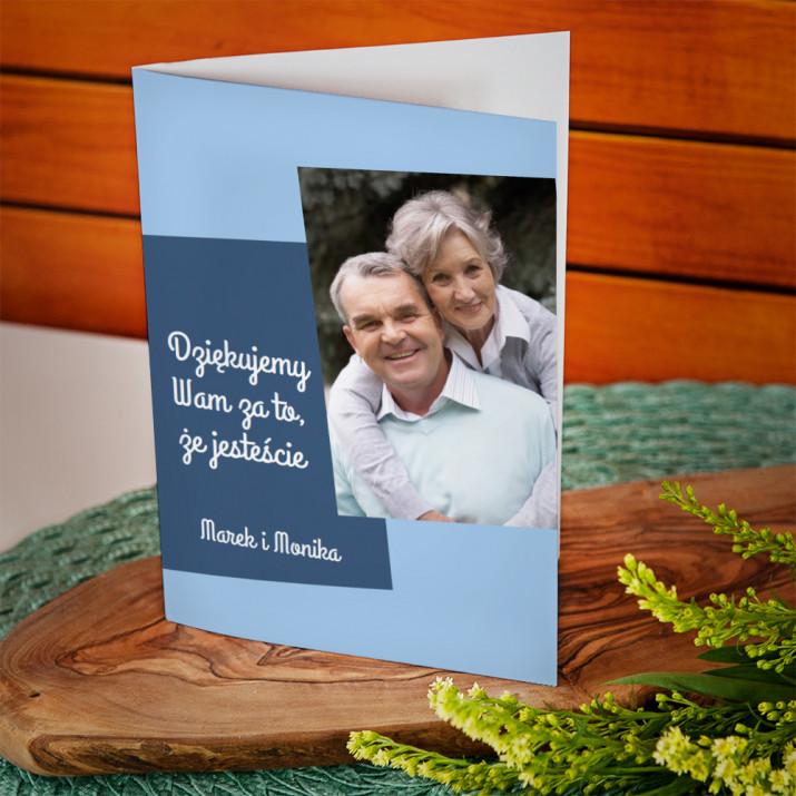 Dziękuję dziadkom - kartka z życzeniami