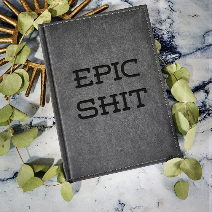 Epic Shit - notatnik grawerowany A5