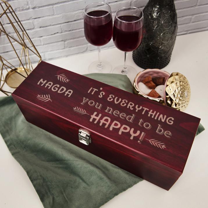 Everything you need - Skrzynka na wino z akcesoriami