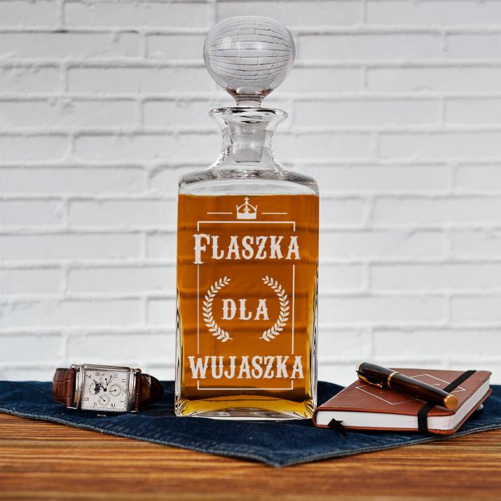 Flaszka dla wujaszka - grawerowana karafka do whisky