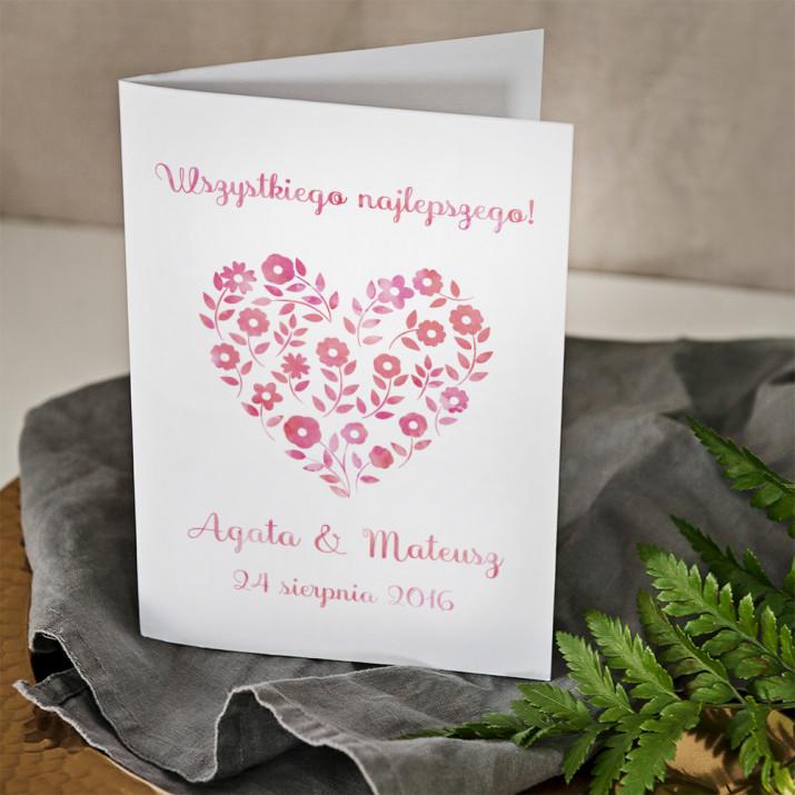 Flower Heart - kartka z życzeniami