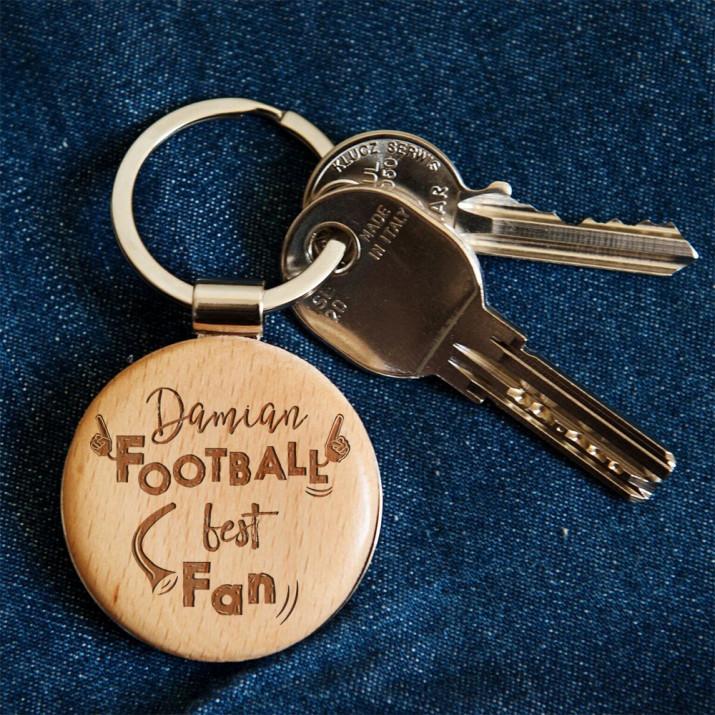 Football Best Fan - Brelok drewniany