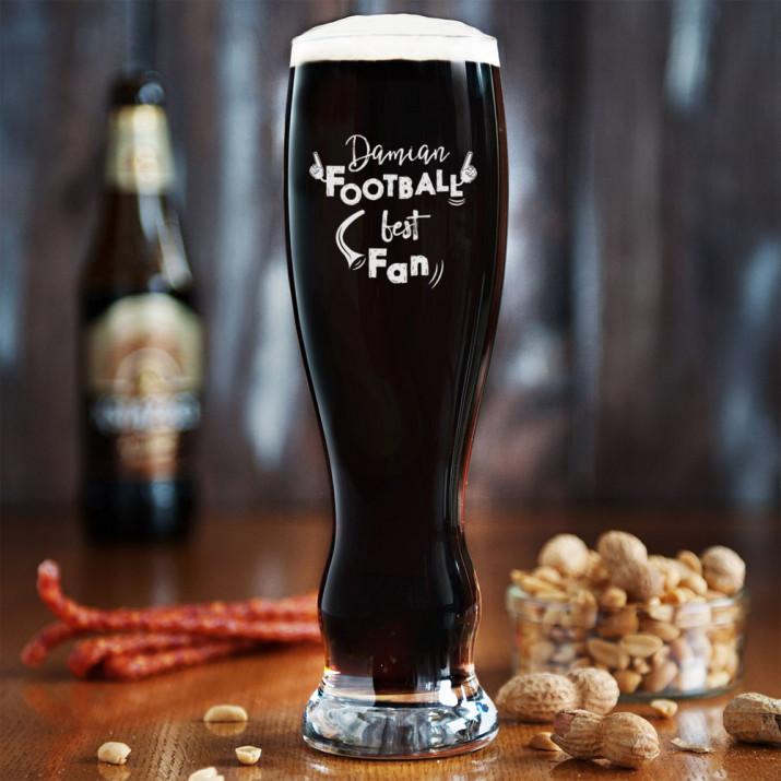 Football Fan - Grawerowana Szklanka do piwa
