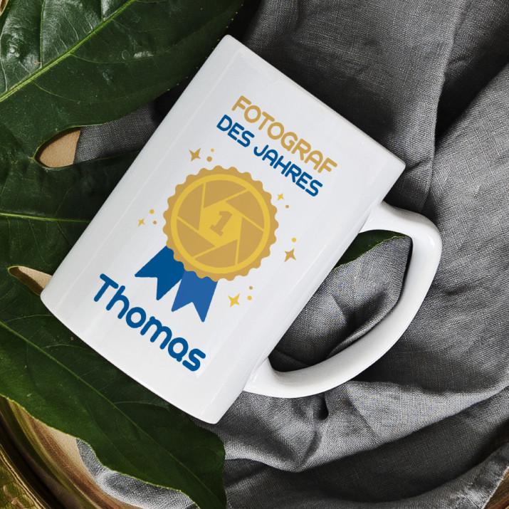 Fotograf des Jahres - personalisierte Tasse