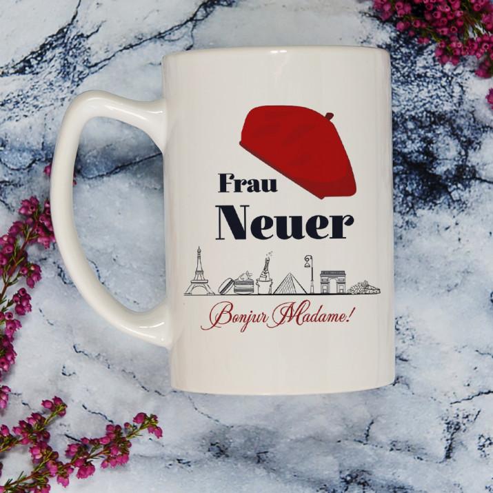 Bonjour Madame - personalisierte Tasse