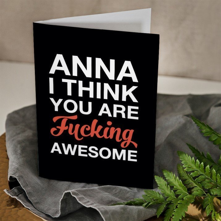 Fucking awesome - Glückwunschkarte