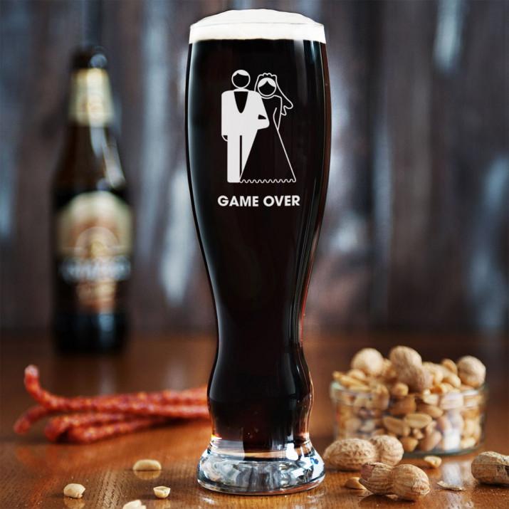 Game Over - Grawerowana Szklanka do piwa
