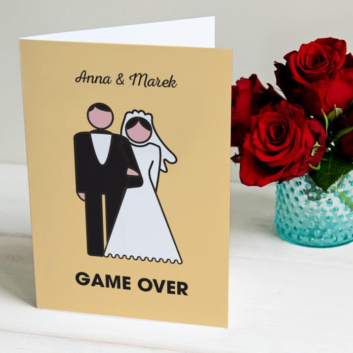 Game over - kartka z życzeniami