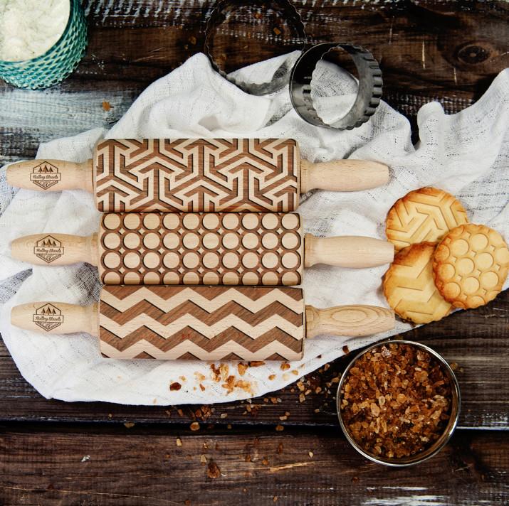 Geometric - Zestaw 3 MINI Wałki do ciasta