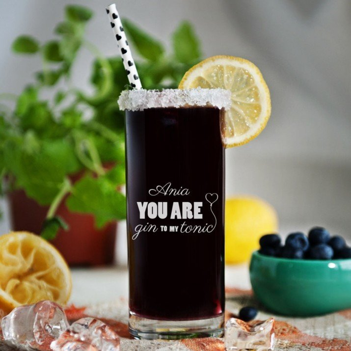 Gin to my tonic - Grawerowana Szklanka do drinków