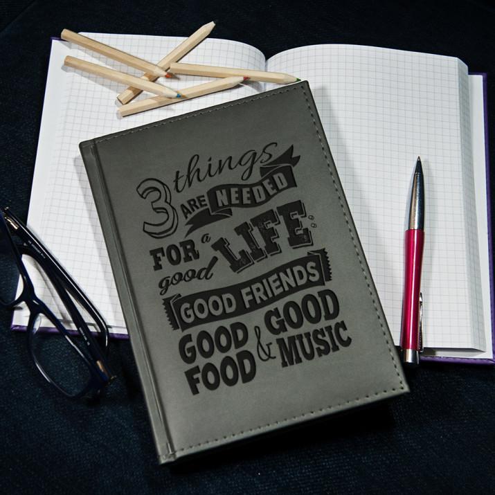 Good life - notatnik grawerowany A5