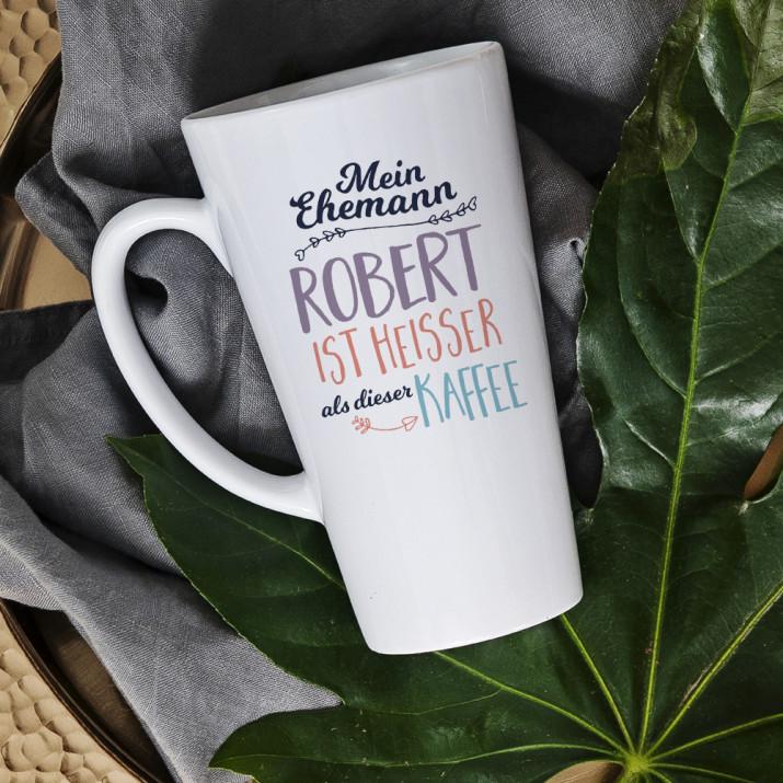 Heißer als - personalisierte Tasse