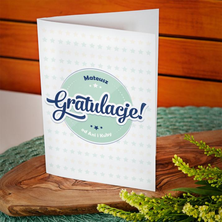 Gratulacje - kartka z życzeniami