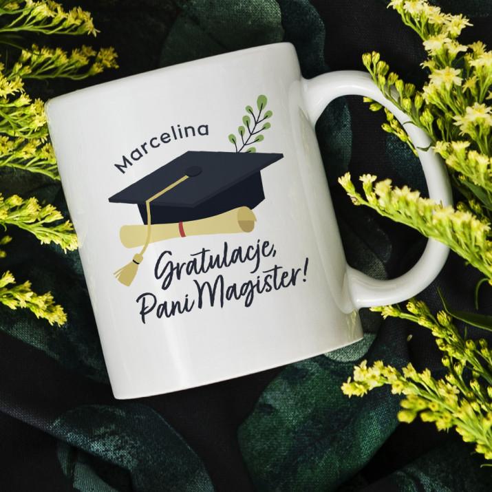 Gratulacje, Pani Magister  - kubek personalizowany