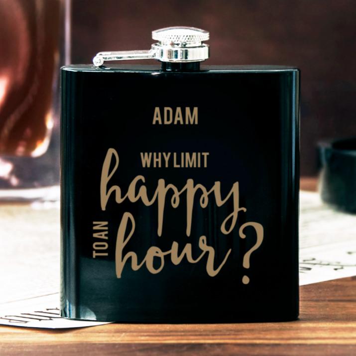 Happy Hour - Piersiówka z grawerem