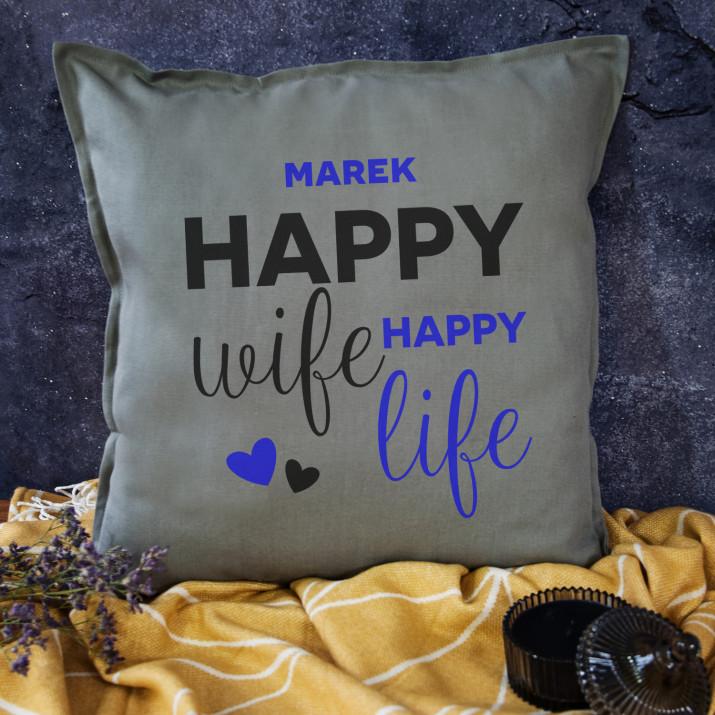 Happy life  - Poduszka dekoracyjna
