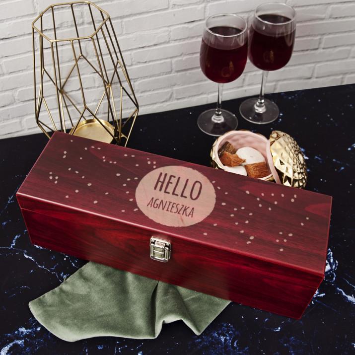 Hello - Skrzynka na wino z akcesoriami